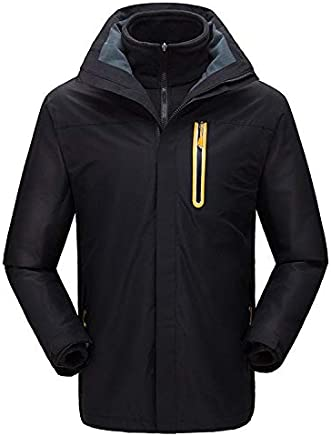 Outdoor clothing twopiece jacket to keep warm and cold detachable clip to overcome, black male, XXL