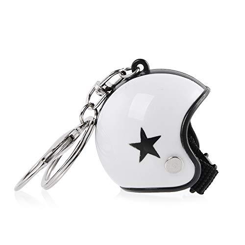 XX ecommerce Porte-clés universel pour casque de moto - Chaîne de clés - Personnalité créative - Star Flamme - Imprimé léopard - Logo camouflage - Porte-clés universel (009)