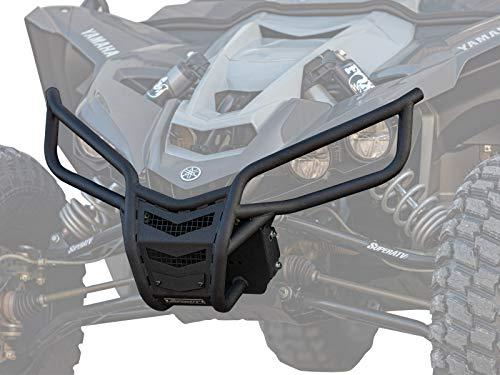 SuperATV Heavy Duty Winch Ready Front Bumper for Yamaha YXZ (2016+) - Wrinkle Black