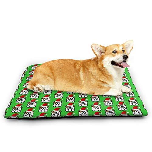 Niet toepasbaar Engels Bulldog Kerstman Huisdier Kat En Hond Pad Waterdichte Huisdier Matrassen Absorberende Handdoek Tapijt, 23