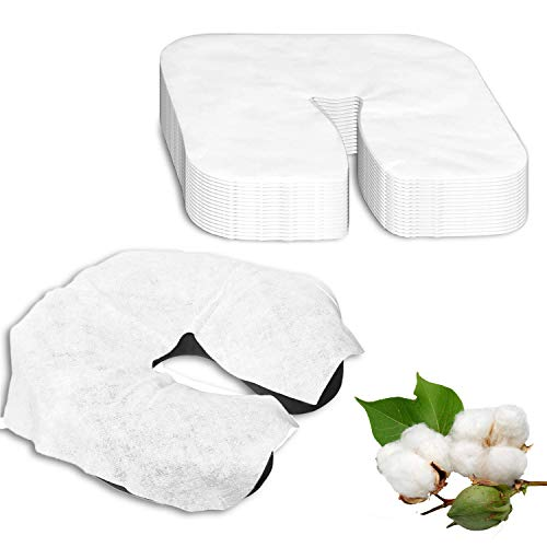 120 Pieces Disposable Face Cradle Covers,Silky Soft headrest massage table paper towels,Massage Face Rest for chair massages and massage therapist (Face Cradle Covers)