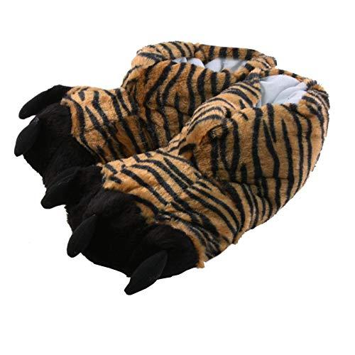 Tierhausschuhe Hausschuhe Tiger, Schwarz, 41/42, TH-TIGERCLAW
