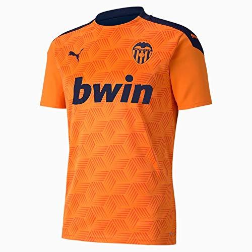 PUMA Herren T-Shirt VCF Away Shirt Replica, Vibrant Orange-Peacoat, M, 931236