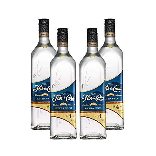Ron Flor de Caña Extraseco de 4 años de 70 cl - D.O. Nicaragua - Bodegas Osborne (Pack de 4 botellas)