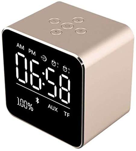 Altavoz Bluetooth inalámbrico portátil Mini teléfono de ducha creativo reloj despertador Mini altavoz Soporte PC y teléfono móvil (color : C)-E