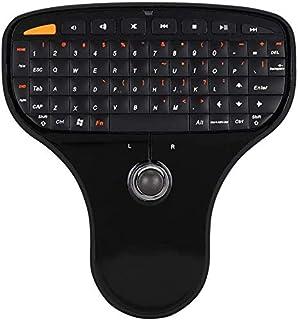 Mini Teclado Recargable Mini Controlador de Teclado inal/ámbrico de 2.4GHz con 83 Teclas Exliy Mini Teclado inal/ámbrico con Mouse de Panel t/áctil