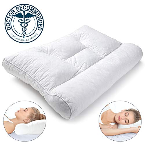 Premium Cervical Pillow for Side Sleepers and Back Sleepers, Neck and Shoulder Pain, Premium Natural Shredded Latex Pillow, Orthopedic Pillow, Neck Support Pillow, Cervical Neck Pillow