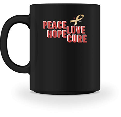 Generisch Peace Love Hope Cure - Aids-lus met vleugels - mok