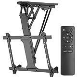 Maclean MC-880 Elektrische neigbare TV Halterung 32-70' für Decke Dachschräge inkl. Fernbedienung bis 35kg max VESA 600x400