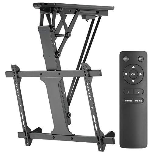 """Maclean MC-880 Elektrische neigbare TV Halterung 32-70\"""" für Decke Dachschräge inkl. Fernbedienung bis 35kg max VESA 600x400"""
