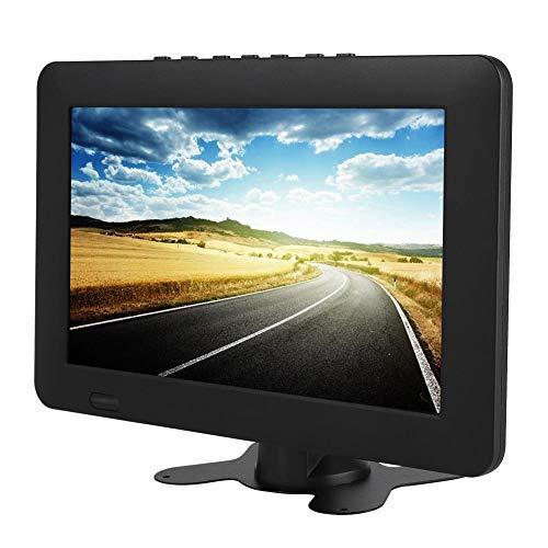 Junluck Reproductor de TV Digital ISDB-T, televisor portátil, Smart 16: 9 USB con Soporte de Altavoz Incorporado y Ranura para Tarjeta de Memoria