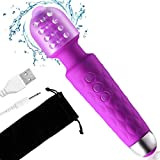 Kabelloser Massagestab Mini Wand Massager mit 20 Vibrationsmodi, Magic Elektrisches Massagegerät für rücken Nacken Schulter Rücken Körpermassage