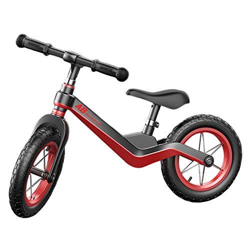 LXLA Bicicletta Senza Pedali Balance Bike per Bambini e Ragazzi, Bici a Spinta Ultraleggera con Manubrio e Sedile Regolabili, Bicicletta da Allenamento Senza Pedale per 2 3 4 5 6 Anni (Color : Black)