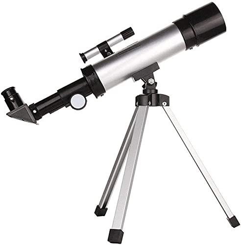 GWDFSU Telescopios monoculares de astronomía para niños Principiantes, Montaje AZ de Apertura de 50 mm, telescopio, reflectores catadióptricos, binoculares, Refractor astronómico con trípode