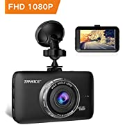 Dash Cam,TryAce Car Camera Night Vision Dashcam 1080P Full HD Car Video Recorder with 8 IR Led Lights 170°Wide Angle G-Sensor Parking Monitor WDR Motion Detection Loop Recording DVR dashboard camera