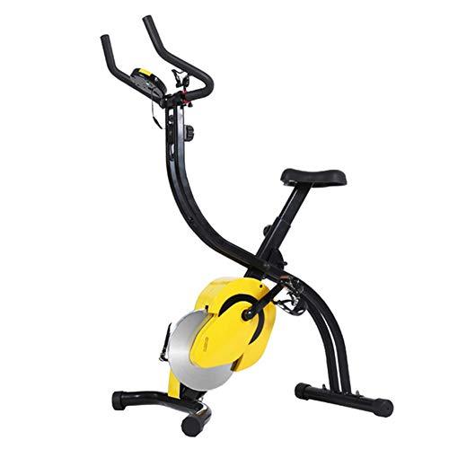 MIAOYO Bicicleta Estática Plegable, Pantalla LCD Magnética para Bicicleta Estática para Personas Mayores Discapacitadas con Almohadilla Antideslizante