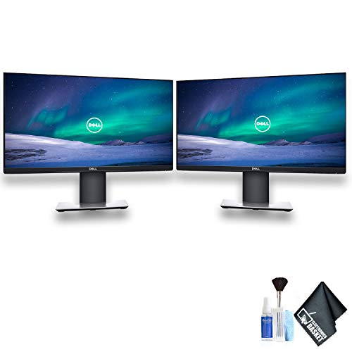 "Dell P2319H 23"" 16:9 IPS Dual Monitor Set with Deluxe Cleaning Kit"