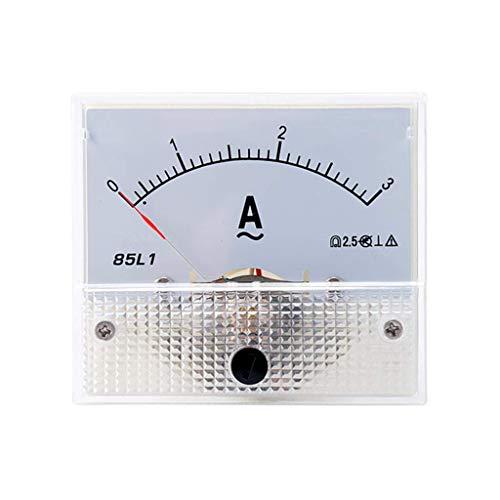 ZHOUMO 1-50A 85L1 AC Panel Meter Amperemeter Analog Panel Amperemeter Zifferblatt Stromanzeige Zeiger Amperemeter (3A)