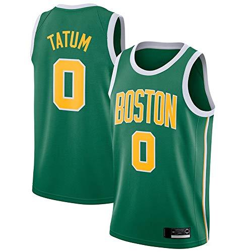 SHR-GCHAO Los Hombres del Jersey De Baloncesto - NBA Boston Celtics # 0 Jayson Tatum Jersey, Camisa De Deportes De La Aptitud para Absorción De Humedad Baloncesto,XL(180~185cm/85~95KG)