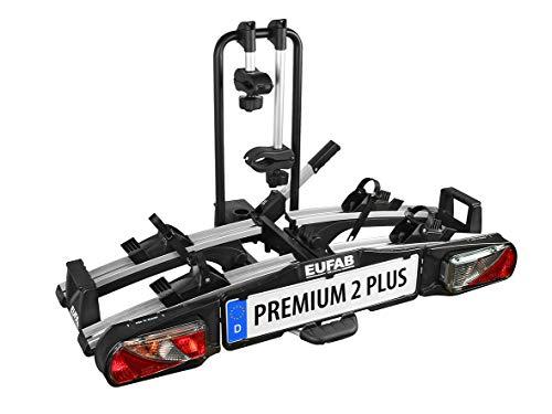 EUFAB 11523 Heckträger Premium ll Plus für Anhängekupplung, für E-Bikes geeignet