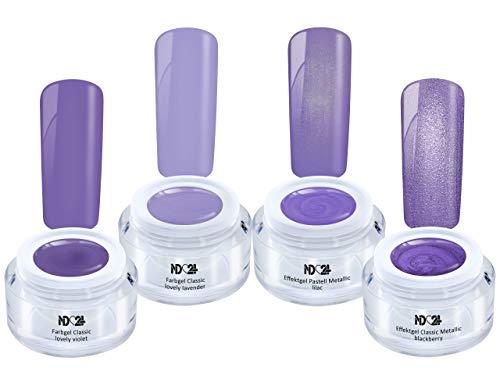 Violet Fever Collection Set - Color Effekt Gellila - Gelnägel Farbgel - Made in Germany (4 x 5ml)