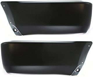 Partomotive For 99-02 4Runner Rear Bumper Face Bar Extension Black End Left Right PAIR SET
