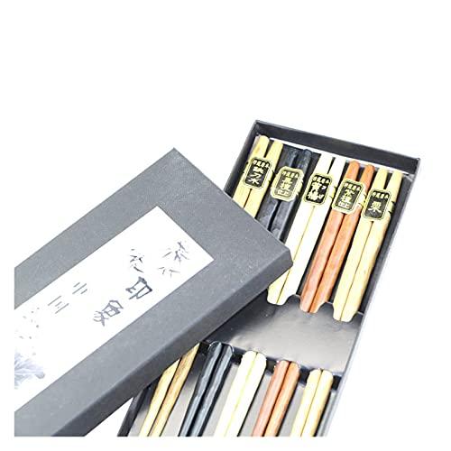 QIXIAOCYB Palillos palillos palillos de madera conjunto palillos conjunto conjunto caja de regalo palillos roscados palillos de madera palillos de madera palillos de tallado estilo palitos de palillos
