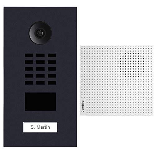 doorbird–Kit d2101V-ral7016+ a1061W–Videoportero (IP Lector de Tarjetas RFID + Timbre