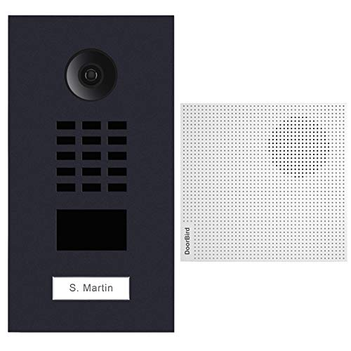 Doorbird D2101V-RAL7016 + A1061W IP-Video-Türsprechanlage, RFID-Leser, Gong