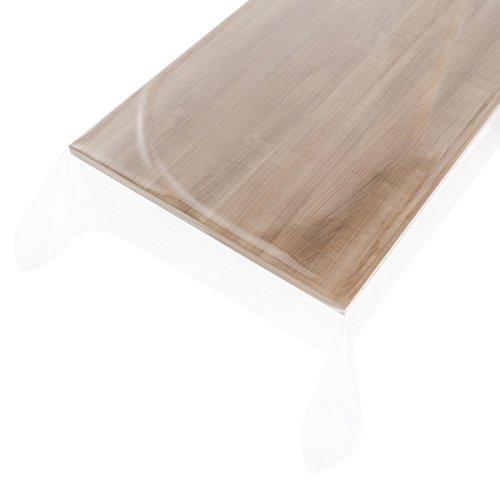 haga-wohnideen.de 1,4m² Wachstuchtischdecke Clear-transparent Schutzdecke PVC abwaschbar in 140cm Breite (Meterware)