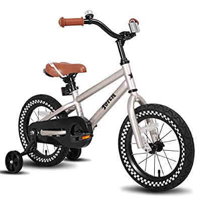 JOYSTAR 14 Inch Kids Bike for 3 4 5 Years Boys, Kids Bicycle with Training Wheel & Coaster Brake, 85% Assembled