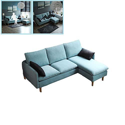 WSN Rinconera sofá,Sala de Estar Simple Moderno pequeño apartamento multifunción Sofá de Tres Personas sofá de la Sala