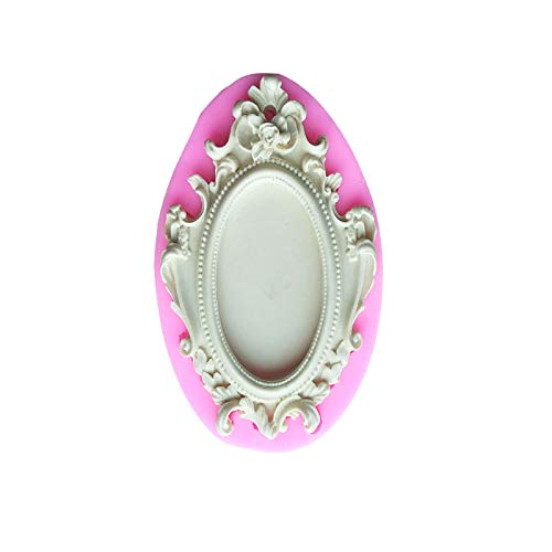N+A Retro Mirror Frame Photo Frame Cake Mold,DIY Mirror Frame Embossed Chocolate Decoration Baking Tools