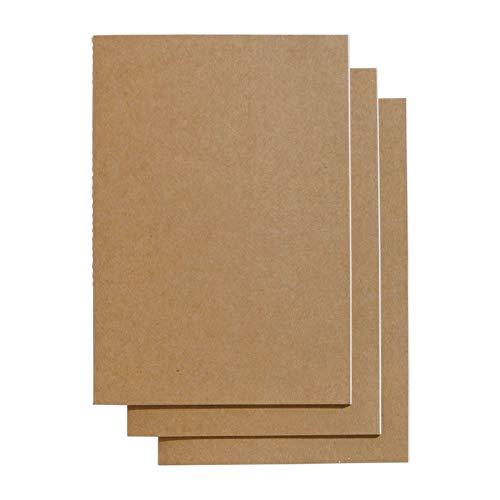 Paperchase–Papel de Kraft cuaderno de ejercicios (A5, Slim–Pack de 3