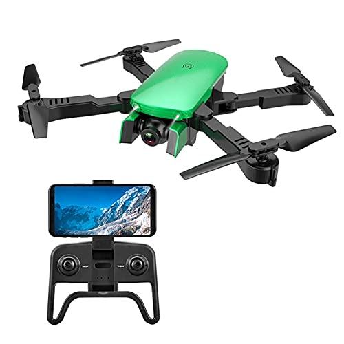 SCYMYBH Drone Fotografica Aerea Pieghevole Drone, Doppia Fotocamera 4K Ultra-Alta Definizione, Giocattolo per aeromobili a Controllo remoto, Flusso Ottico Altezza Fissa, Quadcopter con Zaino