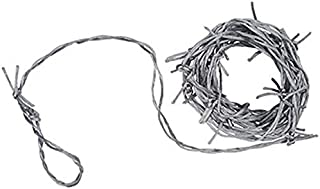 Beistle Silver Barbed Wire Garland 12-Feet Long (1-Unit)