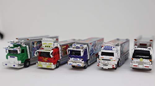 ローソン デコトラコレクション 全5種フルコンプ ミニカー アオシマ フィギュア レトロ トラック トラック野郎