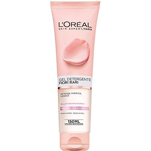 L'Oréal Paris Gel Detergente Fiori Rari, Deterge e Idrata la Pelle, per Pelli Secche e Sensibili,