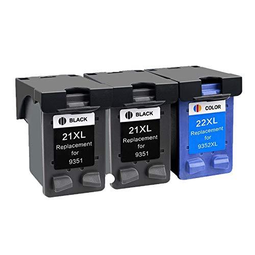 LIUYB Compatible 21 22 XL Reemplazo de Cartucho de Tinta for HP 21 22 for HP21 for HP22 21XL 22XL DeskJet F2180 F2280 F4180 F380 380 (Color : 2BK 1C)