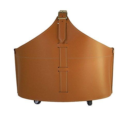 FABIA: portalegna in cuoio colore Marrone,...