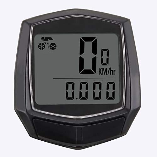 HJTLK Ordenador para Bicicleta, cuentakilómetros LCD para Bicicleta a Prueba de Agua...
