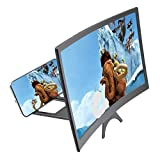 Rogo 3D Phone Screen Enlarger, Curved Screen Magnifier for Cell Phone, Hd Screen Amplifier for Movies, Gaming, Folding Screen Magnifier Compatible with iPhone, Samsung and More Smart Phones