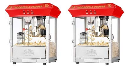 Review 6010 Great Northern Red 8oz Roosevelt Antique Countertop Style Popcorn Popper Machine (2-(Pac...