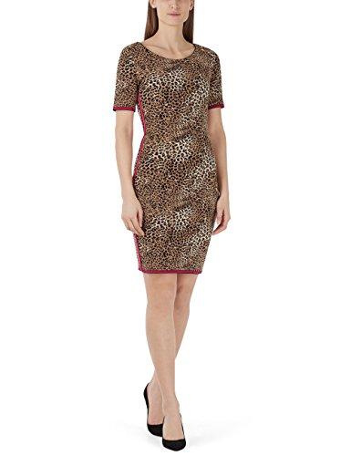 Marc Cain Collections Damen Schlauch Kleid Kc 21.24 M08 Midi, Mehrfarbig (Croissant 622), 40 (Herstellergröße: N4)