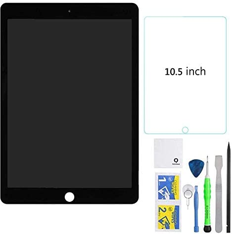 FixCracked Replacement LCD Screen and Glass Touch Digitizer + Screen Protector for ipad pro 10.5 with Professional Tool Kit(Black)