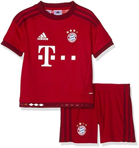 adidas Kinder Bekleidungsset FC Bayern München Mini-Heimausrüstung, True Red/Craft Red, 92