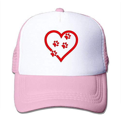 Sombreros de Malla Unisex Gato Pata de Perro Impresiones Corazón Ajustable Snapback Papá Cap Hip Hop 12120