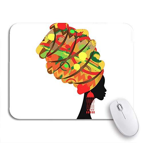 Gaming mouse pad portrait schöne afrikanerin im traditionellen turban kente head rutschfeste gummiunterlage mousepad für notebooks computer mausmatten