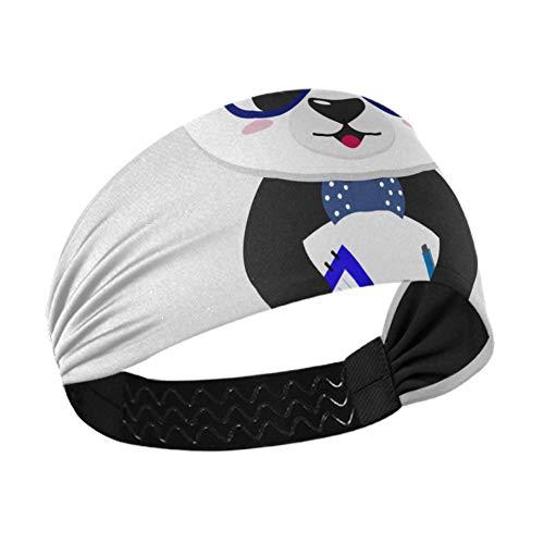 Diademas elásticas para mujer, gafas de panda, grandes, de baloncesto, para niñas, con cinta elástica antideslizante para correr, fitness, baloncesto, baile, se adapta a todos los hombres y mujeres