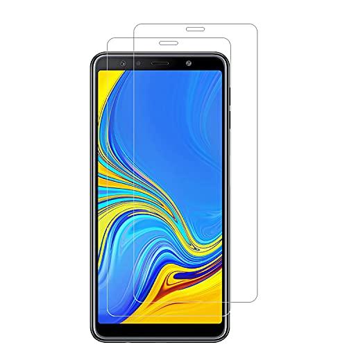 ANEWSIR Panzerglas Schutzfolie Kompatibel mit Samsung Galaxy A7 2018 Panzerglasfolie, Anti-Bläschen, Bildschirmschutzfolie Schutzfolie Folie Kompatibel mit Samsung A7 2018.